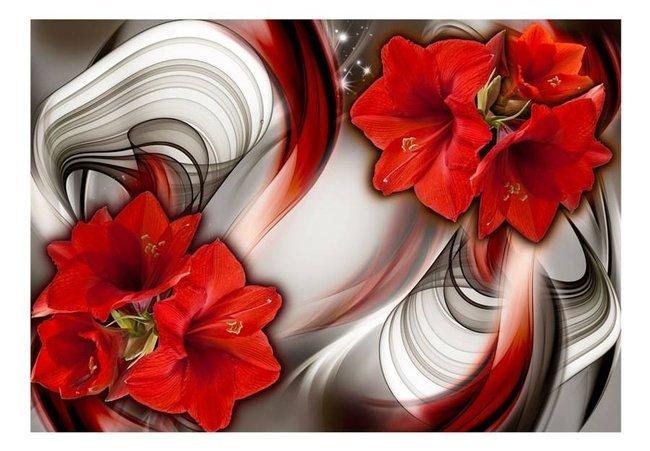 Fototapeta - Amarylis - Ballada o czerwieni