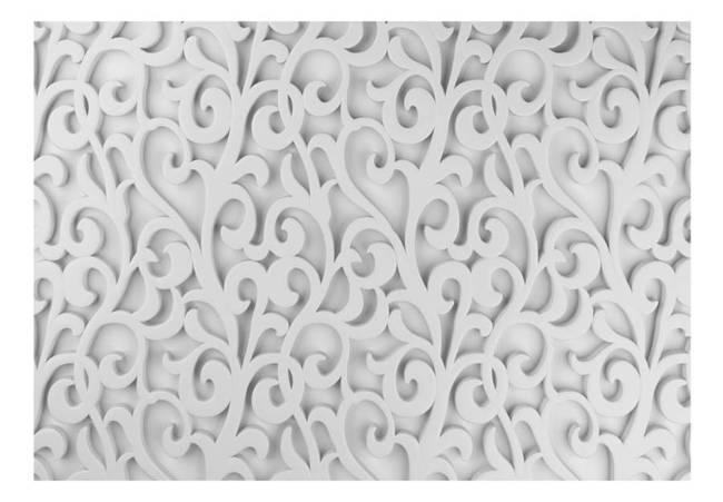 Fototapeta - Biały ornament