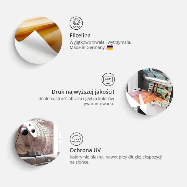 Fototapeta - Cegła w ramce (pomarańczowy)