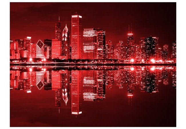 Fototapeta - Chicago w kolorze wina