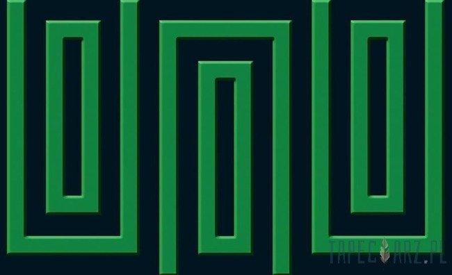 Fototapeta Czarno-zielony wzór geometryczny 866