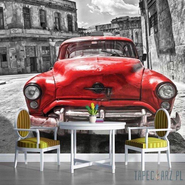 Fototapeta Czerwony samochód - vintage 1181