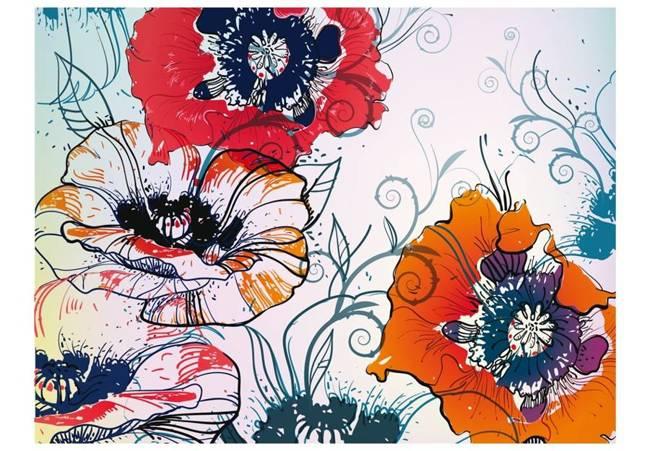 Fototapeta - Delikatny motyw kwiatowy