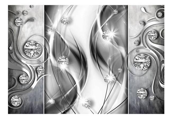 Fototapeta - Diamenty w srebrze