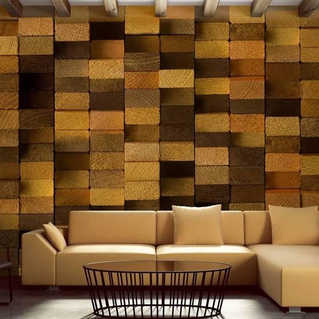 Fototapeta - Drewniana ściana