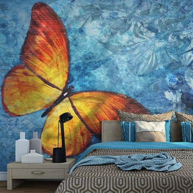 Fototapeta - Fiery butterfly