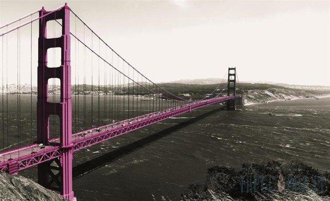 Fototapeta Fioletowy most Golden Gate 1196