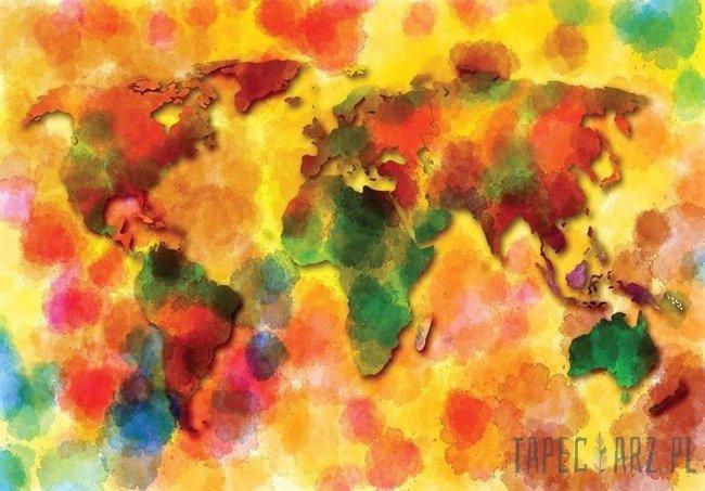 Fototapeta Kolorowa mapa 10423