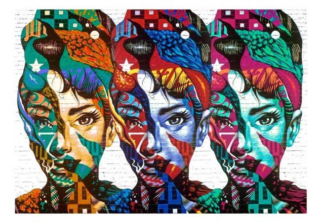 Fototapeta - Kolorowe twarze