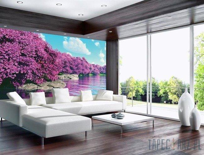 Fototapeta Krajobraz - fioletowe drzewa 3536