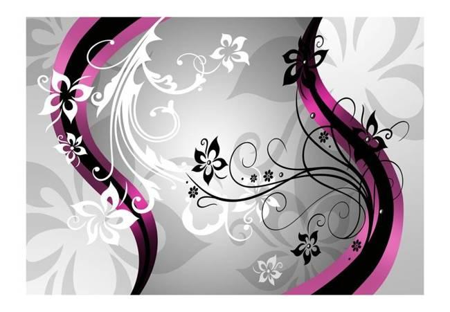 Fototapeta - Kwietne esy-floresy (różowy)