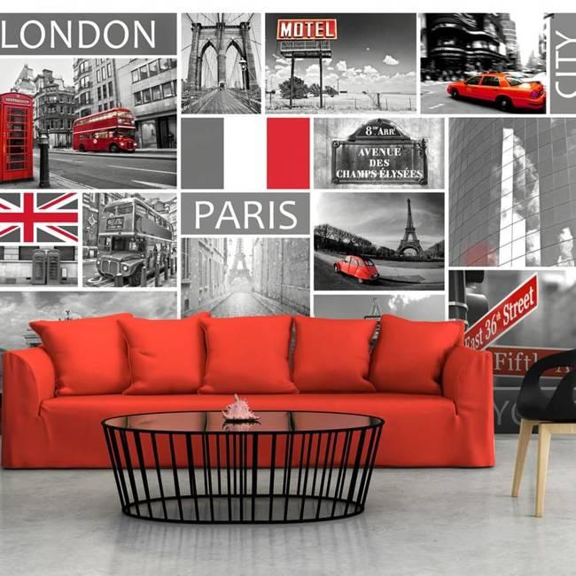 Fototapeta - London, Paris, Berlin, New York
