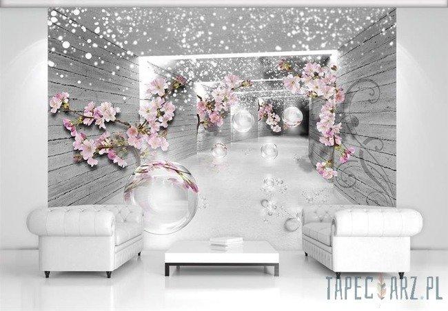 Fototapeta Magiczny tunel 3D z kwiatami 3360