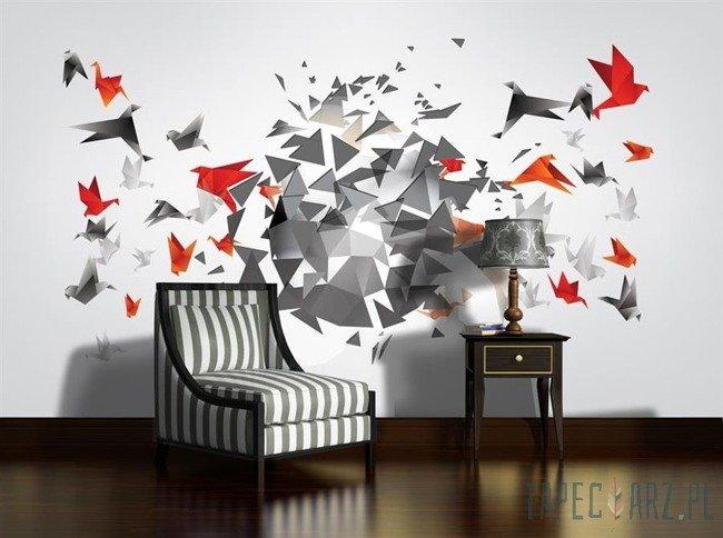 Fototapeta Origami - ptaki 2162