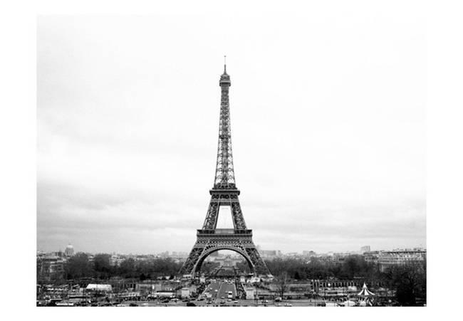 Fototapeta - Paryż: czarno-biała fotografia