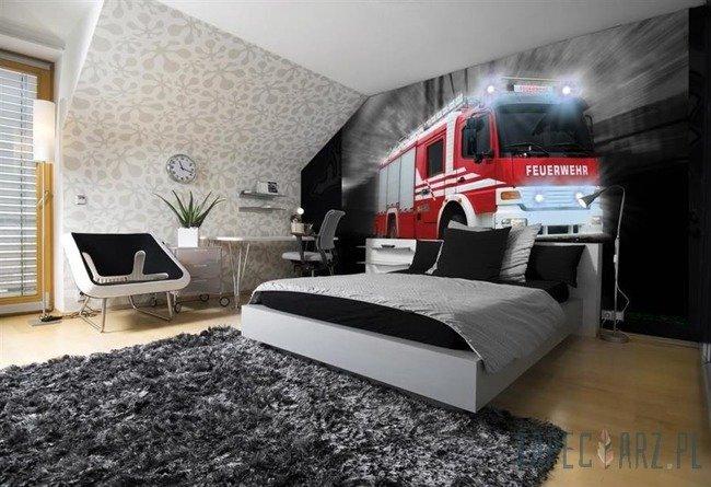 Fototapeta Pędzący wóz strażacki 2023