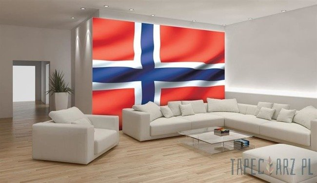 Fototapeta Powiewająca flaga Norwegii 490