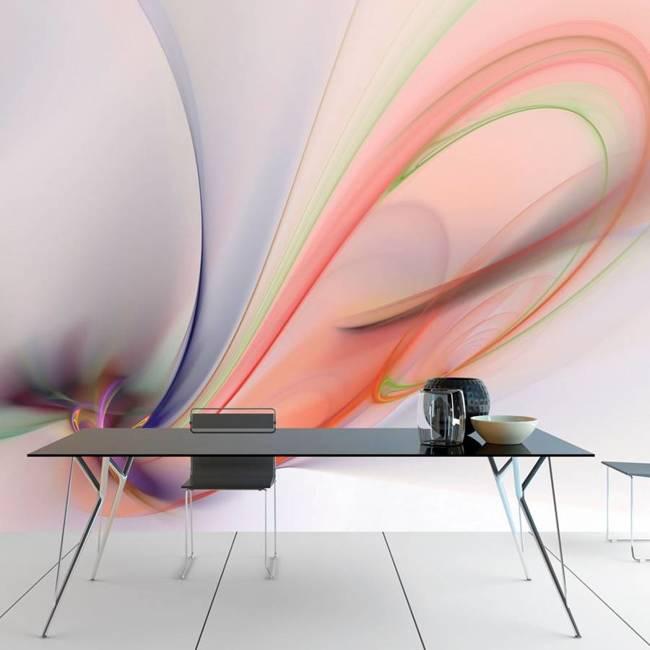 Fototapeta - Silky colorful smoke