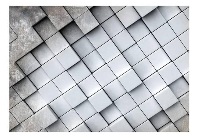 Fototapeta - Szare tło 3D