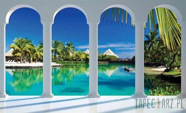 Fototapeta Widok na Malediwy przez kolumny 2357