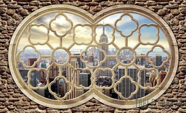 Fototapeta Widok na Nowy Jork przez okno 2395