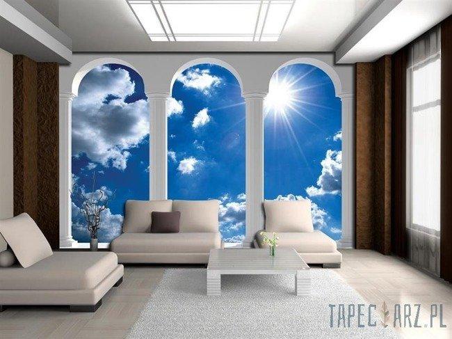 Fototapeta Widok na niebo przez kolumny 2348