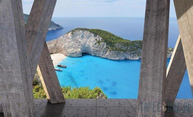 Fototapeta Widok na zatokę Wraku (Zakynthos) 3656