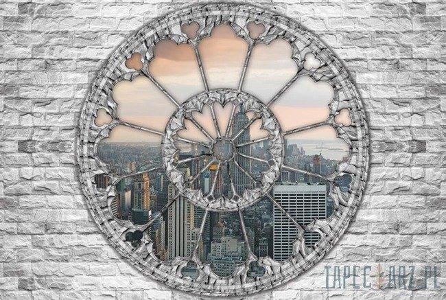 Fototapeta Widok przez okno na Nowy Jork 2099
