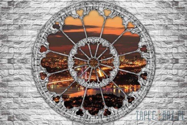 Fototapeta Widok przez okno na miasto nocą 2105