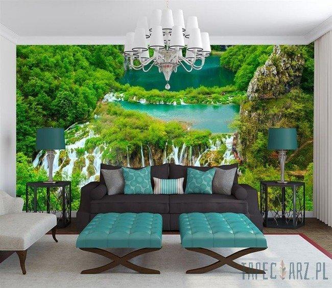 Fototapeta Wodospad w zieleni 3601