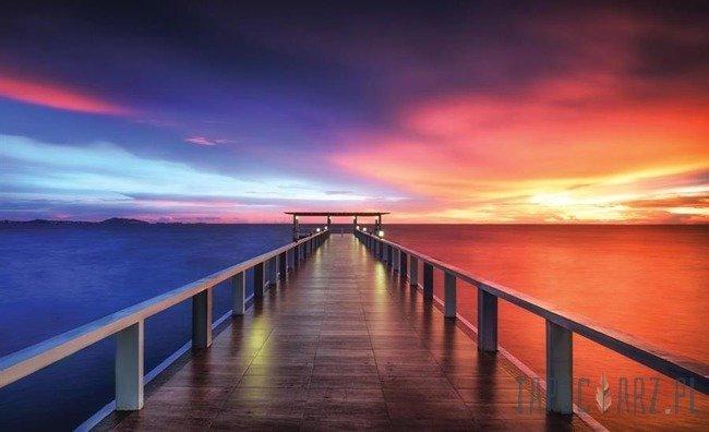 Fototapeta Zachód słońca - pomost 3463
