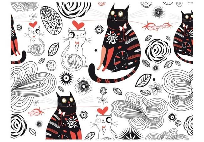 Fototapeta - Zakochane koty