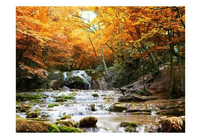 Fototapeta - jesień - wodospad