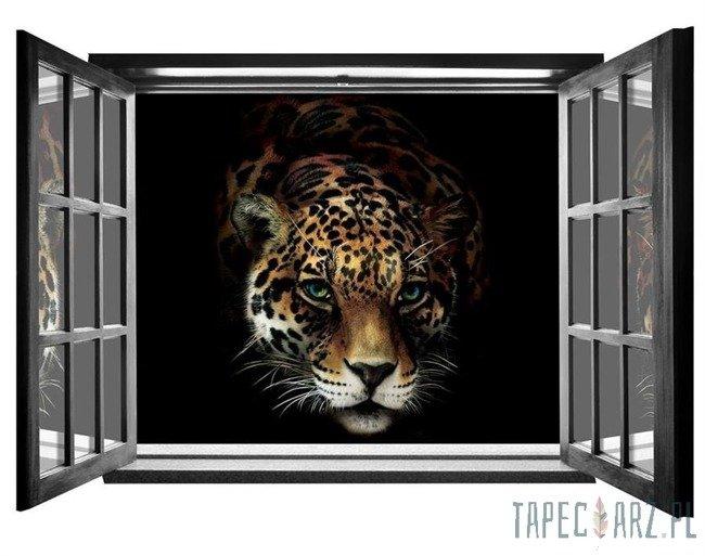 Fototapeta na flizelinie Jaguar - Widok przez otwarte okno 10148