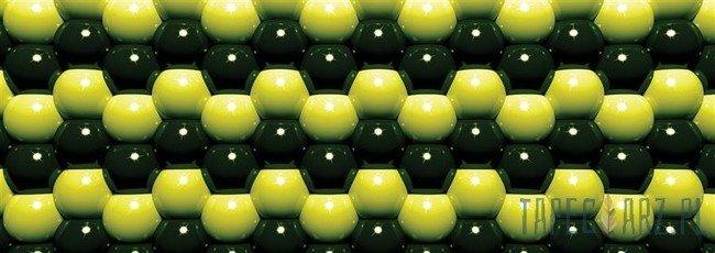 Fototapeta na flizelinie Zielona mozaika z kul 503VEE