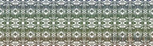Fototapeta na flizelinie Zielono-biały indyjski wzór 2669VEE