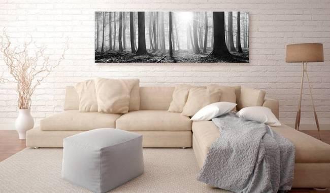 Obraz - Czarno-biały las