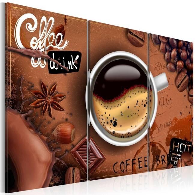 Obraz - Filiżanka goracej kawy