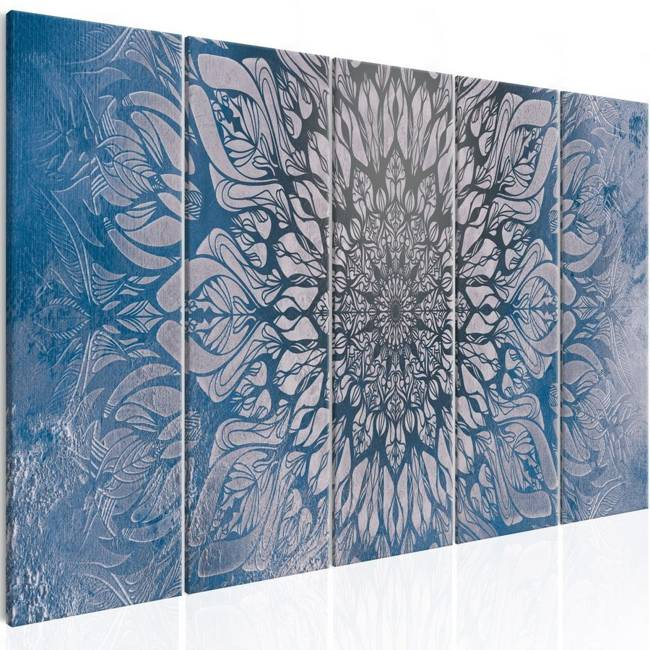 Obraz - Hipnoza (5-częściowy) niebieski wąski