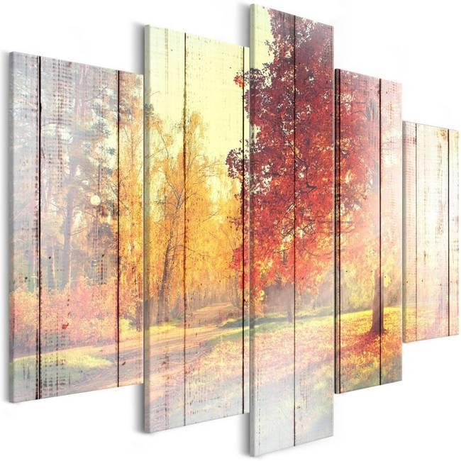 Obraz - Jesienne słońce (5-częściowy) szeroki