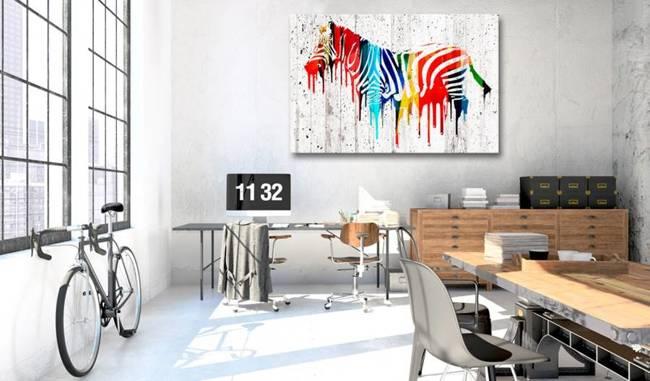 Obraz - Kolorowa zebra