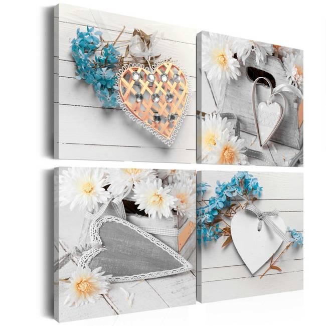 Obraz - Kwiaty i serca