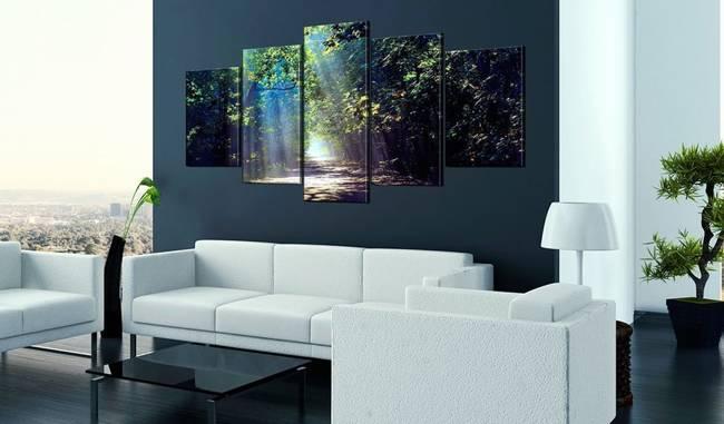 Obraz - Leśna ścieżka słońca