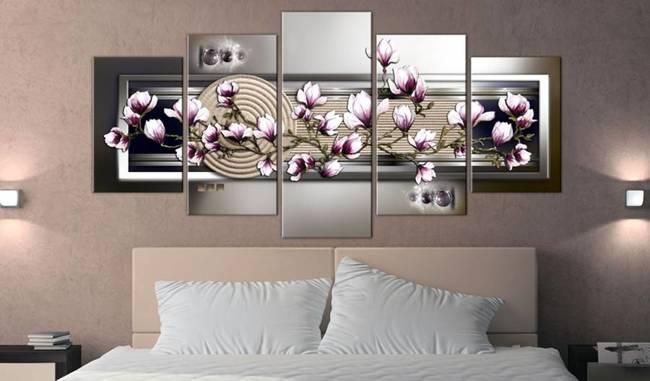 Obraz - Magnolia i ogród Zen