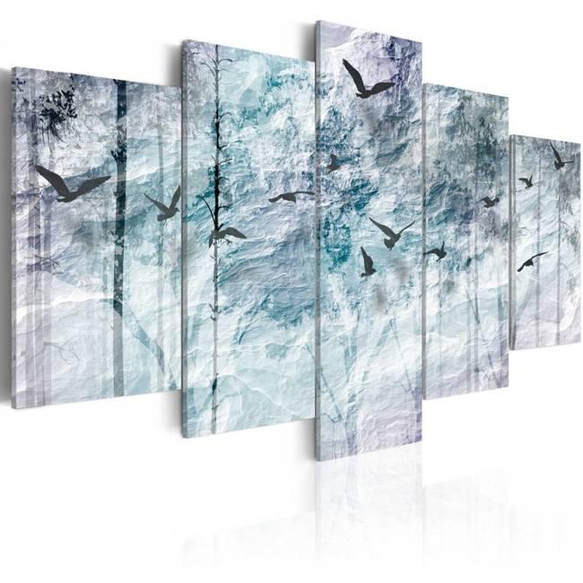 Obraz - Niebieski las