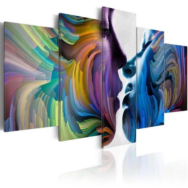 Obraz - Pocałunek kolorów