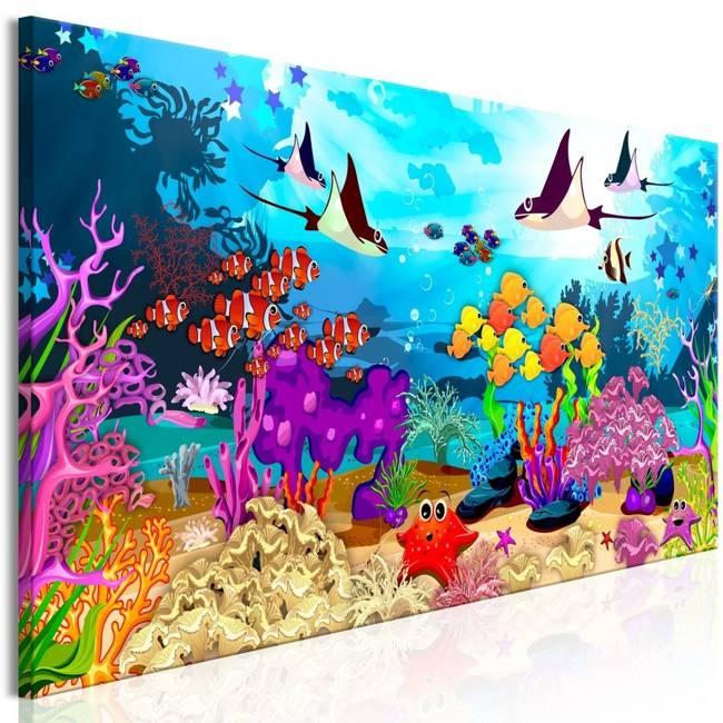 Obraz - Podwodna zabawa (1-częściowy) wąski