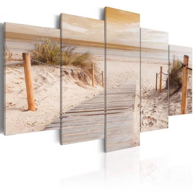 Obraz - Poranek na plaży  - sepia