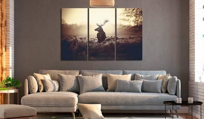 Obraz - Przyczajony jeleń I