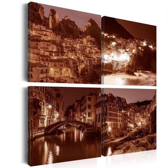 Obraz - Włoskie miasteczka (Sepia)